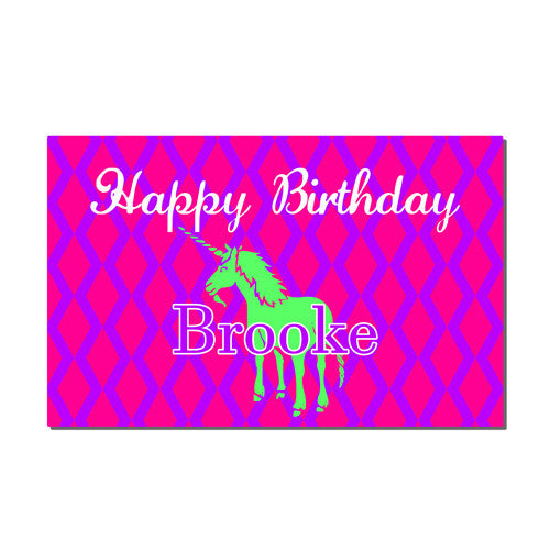 Neoprene Placemat -  Birthday Unicorn Print