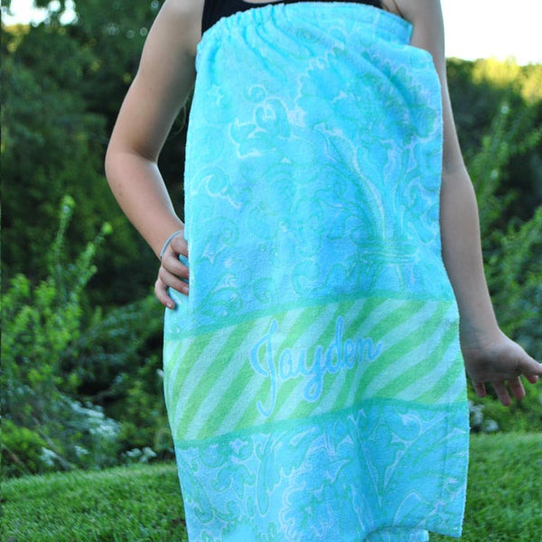 Youth Spa Wrap - Style #210005 Eleanor Mint Print