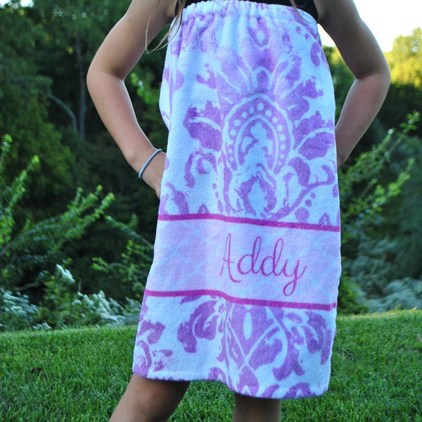 Youth Spa Wrap - Style #210007 Eleanor Purple Print