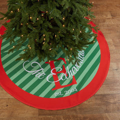 Personalized Tree Skirt - Style #73003 Family Name 'Est.' Print