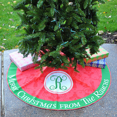 Personalized Tree Skirt - Style #73000 'Merry Christmas From' Print