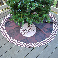 Personalized Tree Skirt - Style #73006 Holiday Print