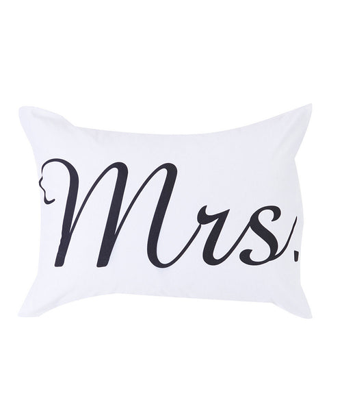 "Pillowcase - ""Mrs"" Print"
