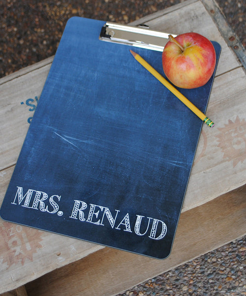 Clipboard - Chalkboard Name White