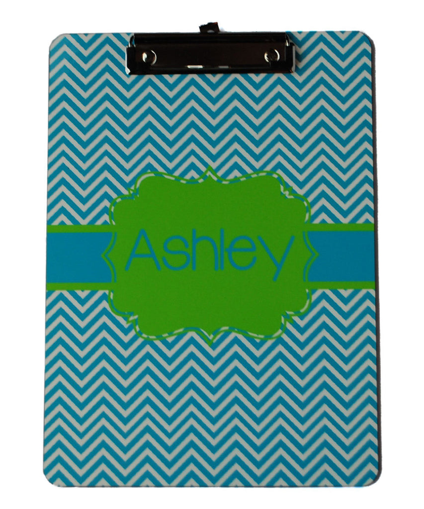 Clipboard - Chevron Aqua Flair Lime