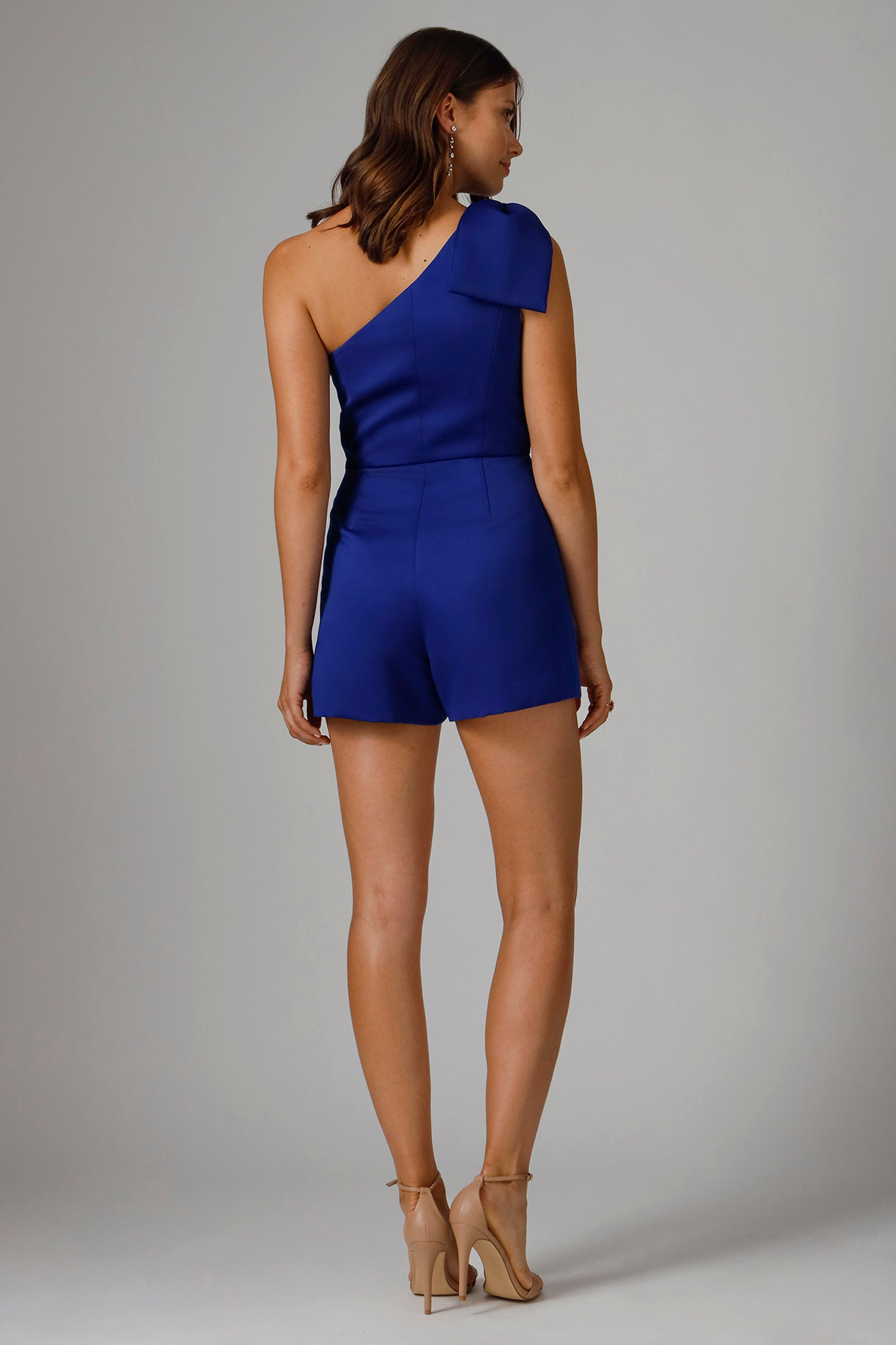 TANY ONE SHOULDER ROMPER WITH OVERSKIRT