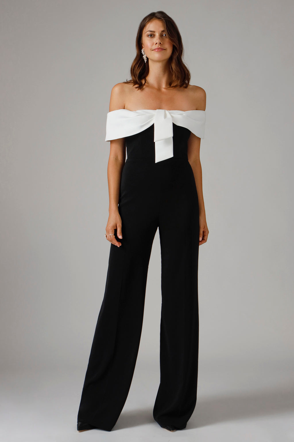 GAGGI OFF THE SHOULDER JUMPSUIT