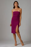 KIA STRAPLESS MIDI DRESS