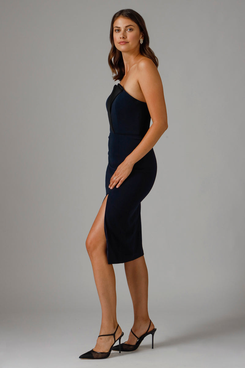 TINSLEY STRAPLESS MIDI DRESS