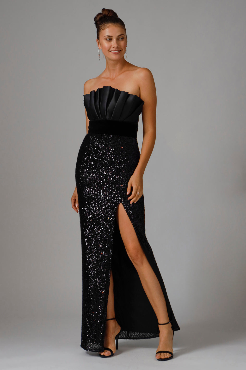 JACE STRAPLESS SEQUIN GOWN