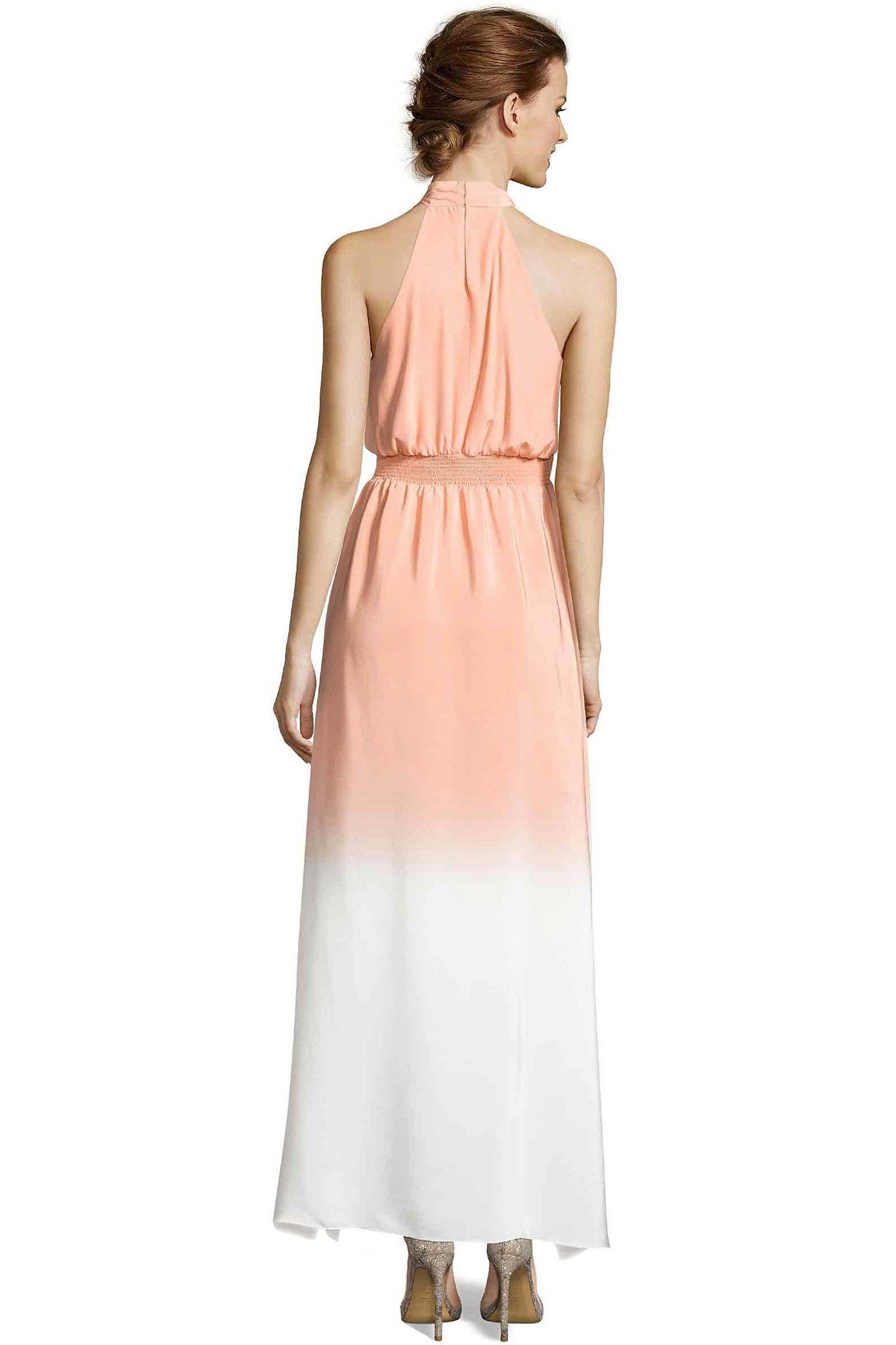 Jay Godfrey Ombre Orange Halter Dress - Back View