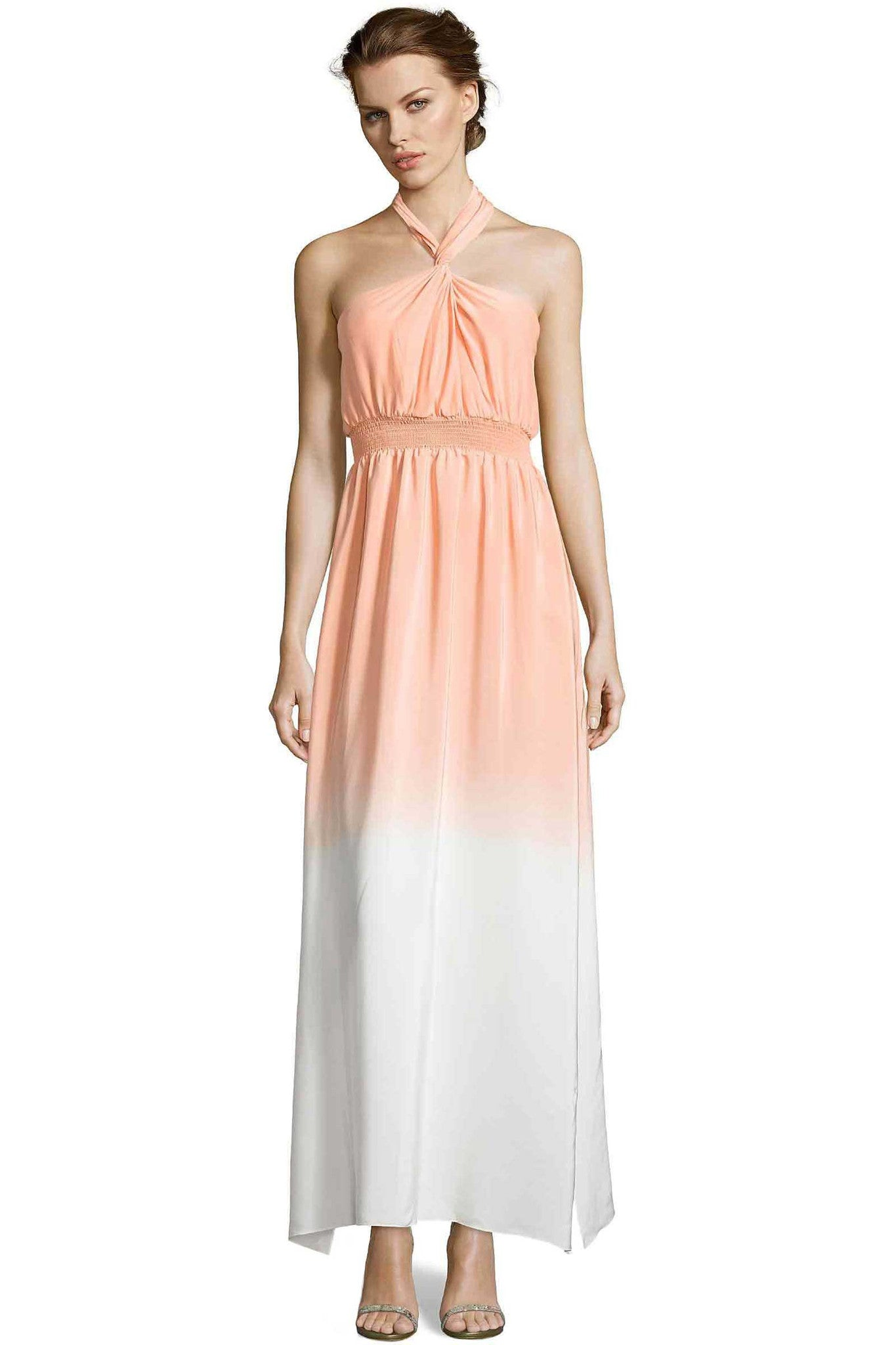Jay Godfrey Ombre Orange Halter Dress - Front View
