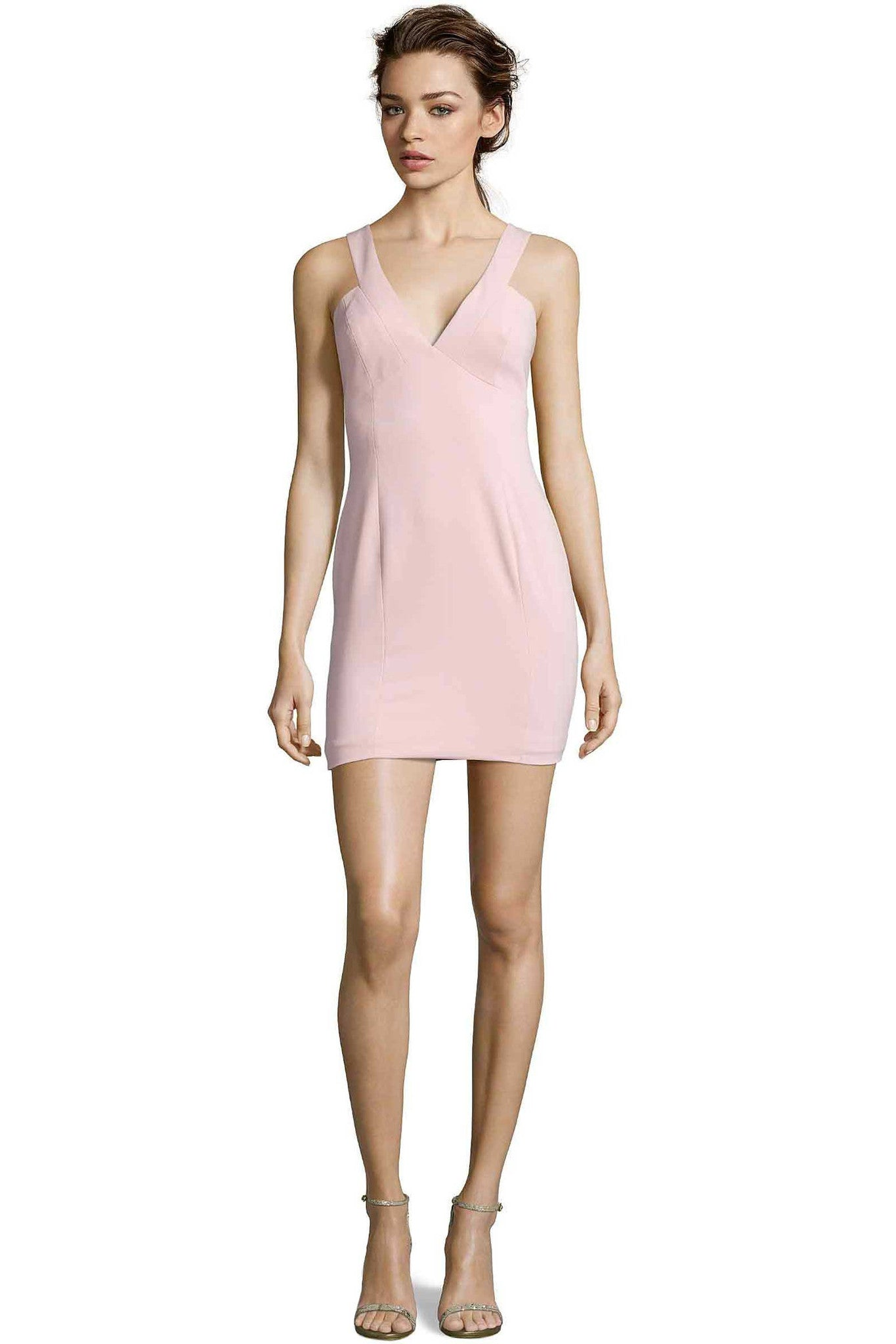 Jay Godfrey Blush Pink Mini Dress - Front View