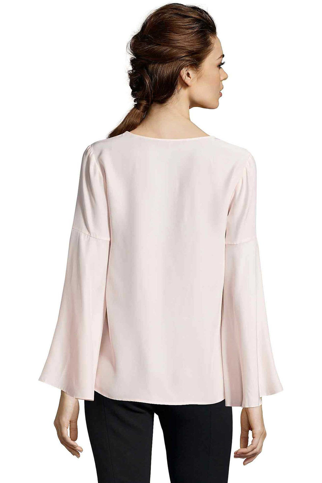 Jay Godfrey Blush Bell-Sleeve - Back View