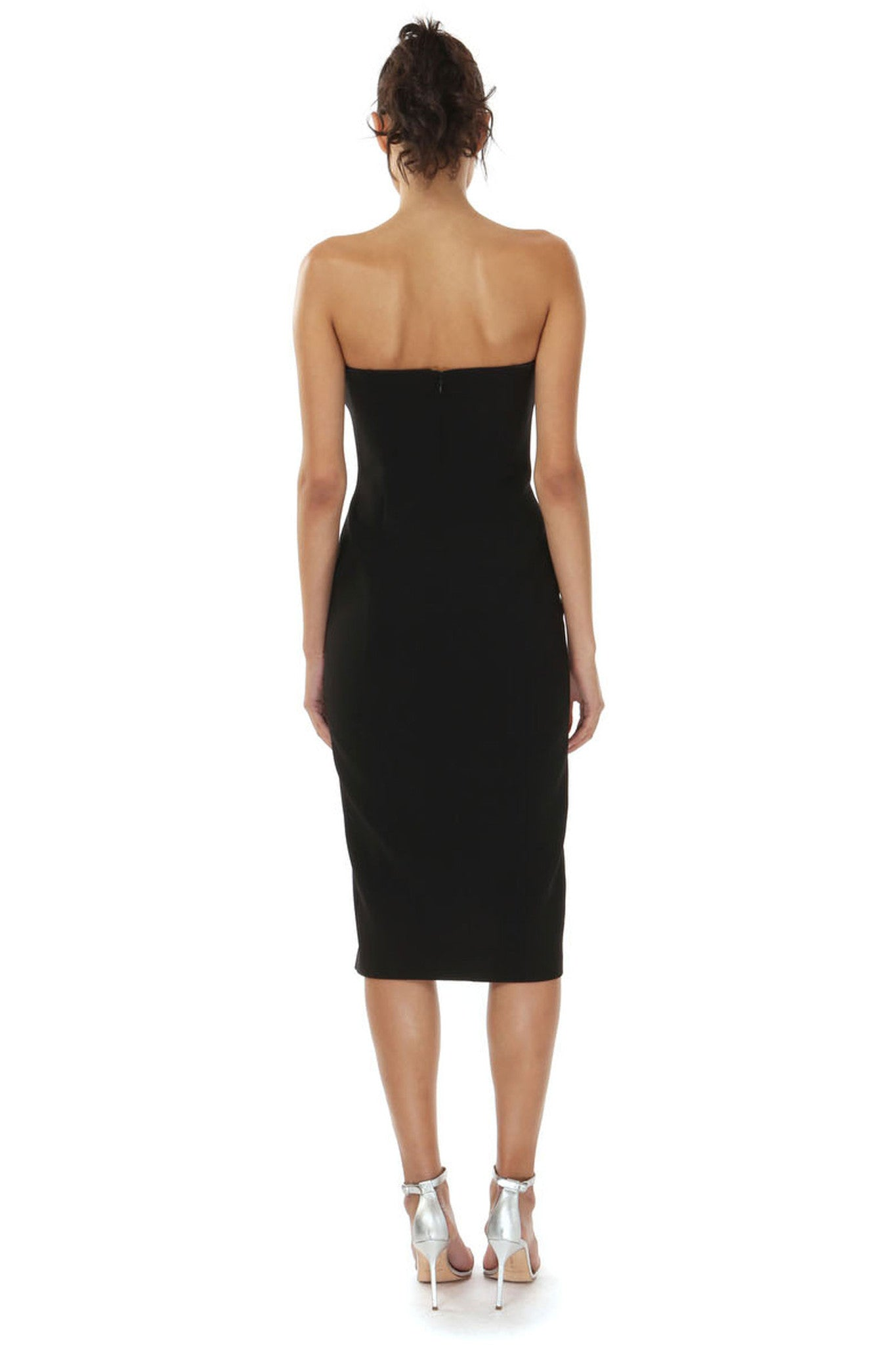 THOMPSON BLACK STRAPLESS DRESS