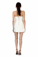 Jay Godfrey Ivory Strapless Romper - Back View
