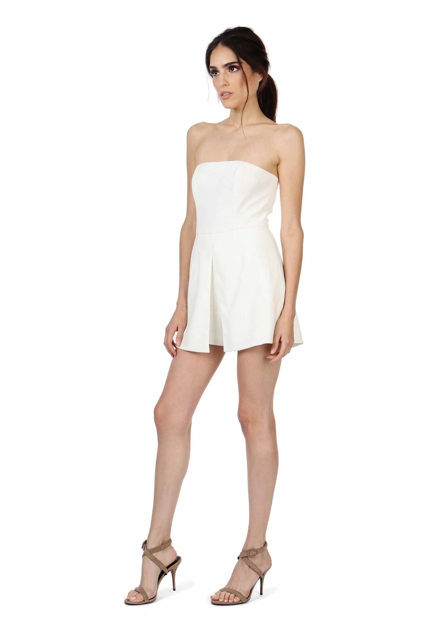 Jay Godfrey Ivory Strapless Romper - Side View