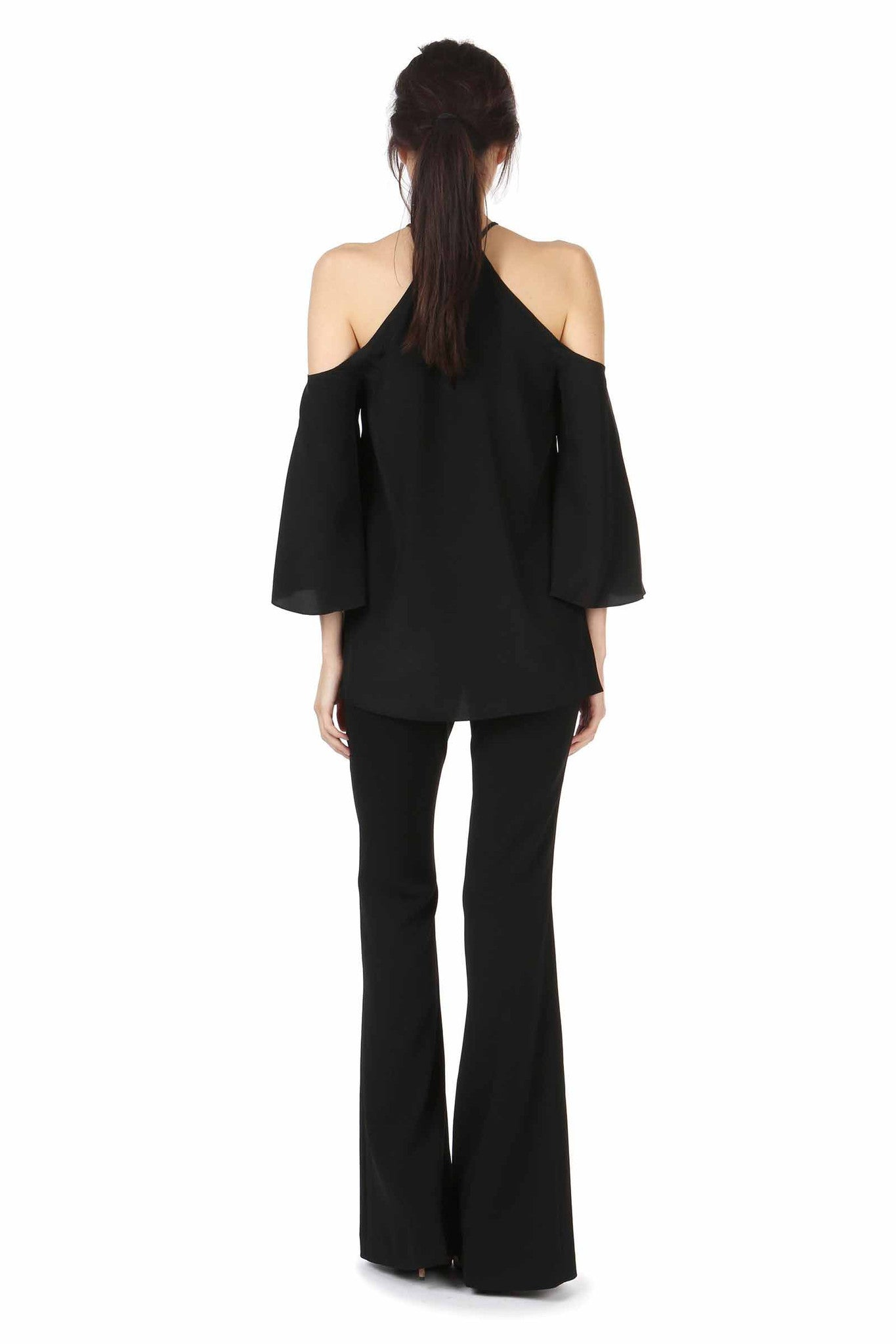 BRENLY BLACK COLD SHOULDER TOP - FINAL SALE