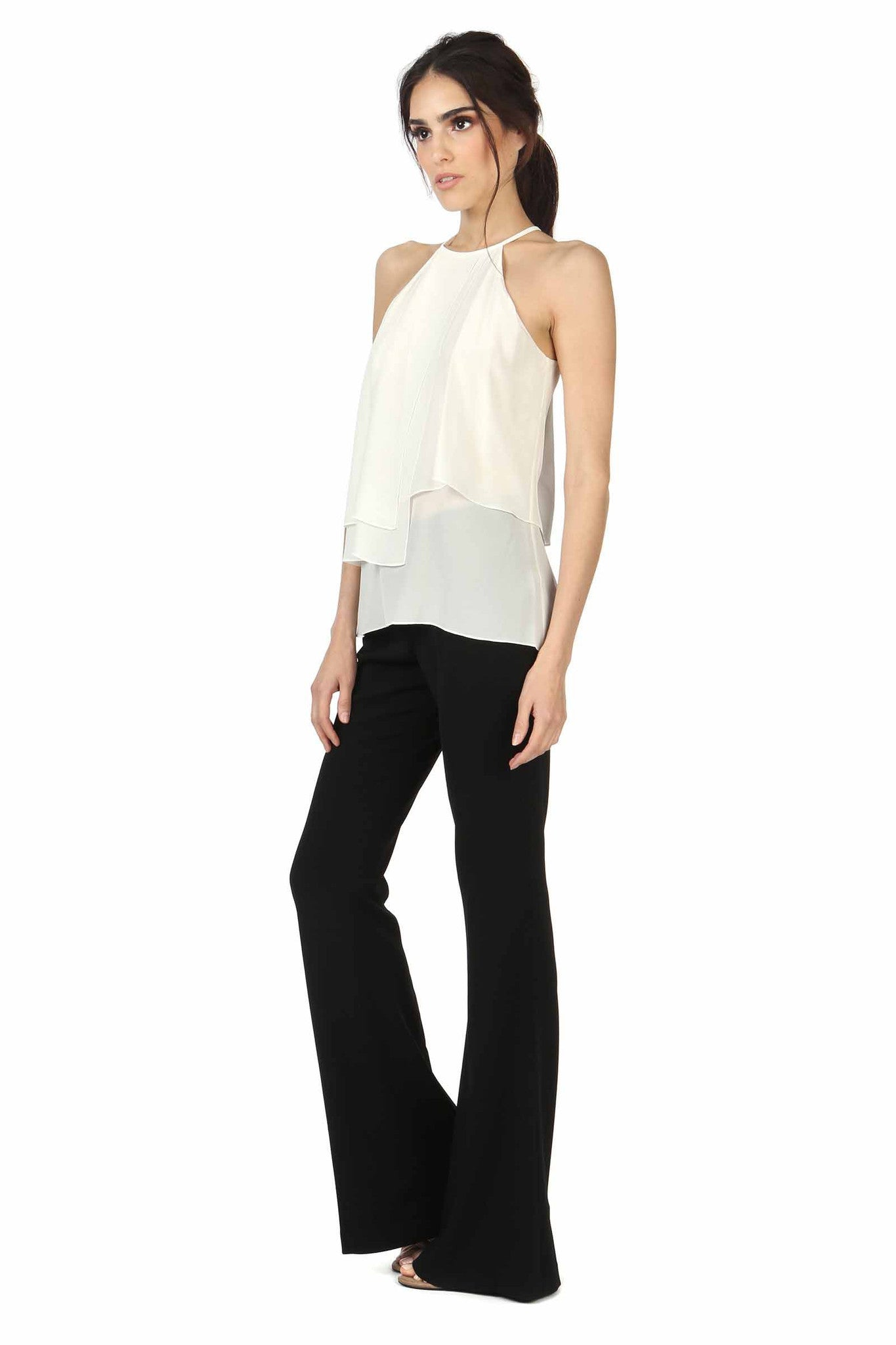 Jay Godfrey Ivory High-Neck Panel Top - Side View