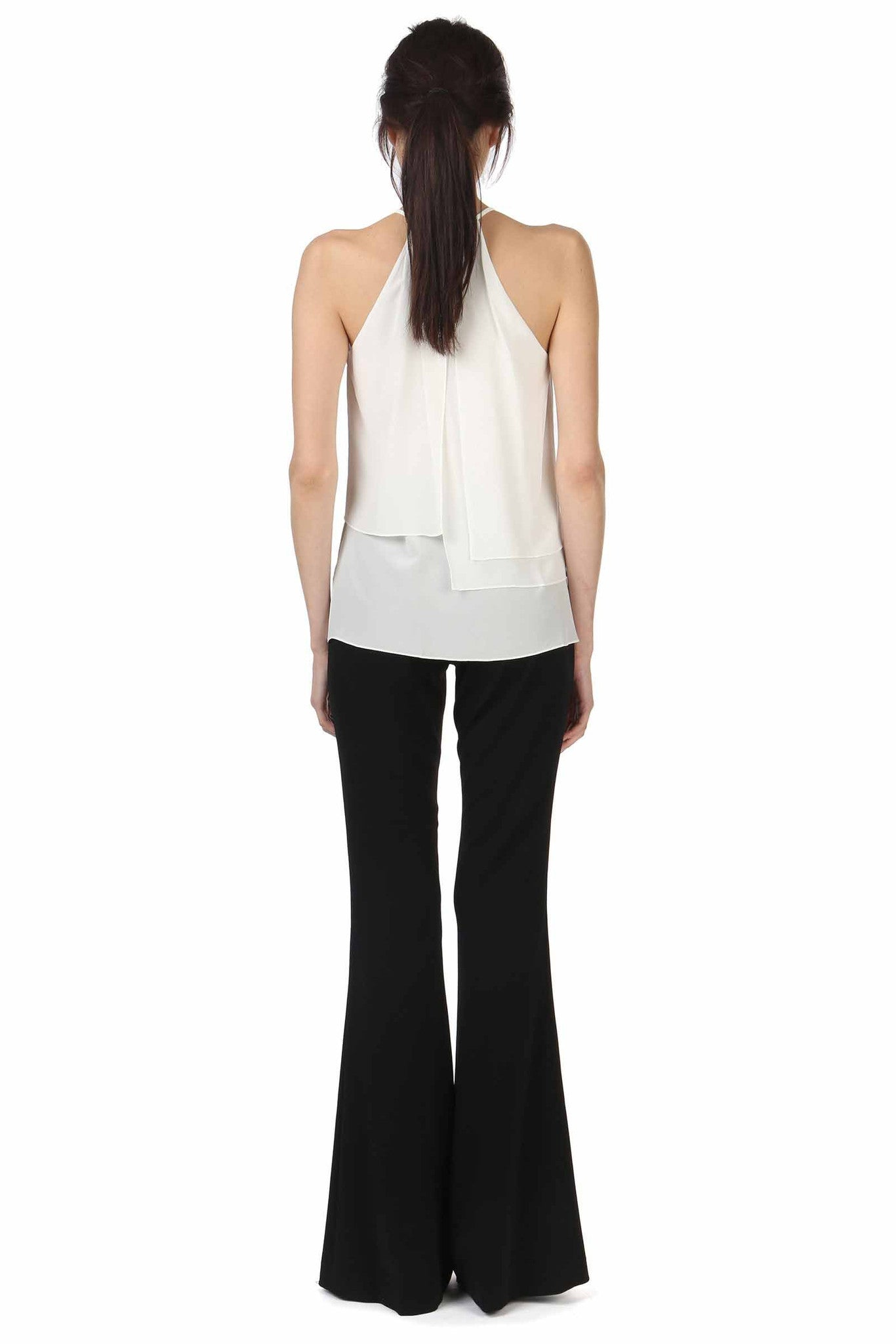 Jay Godfrey Ivory High-Neck Panel Top - Black View