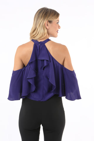 Kingston Off the Shoulder Ruffle Blouse