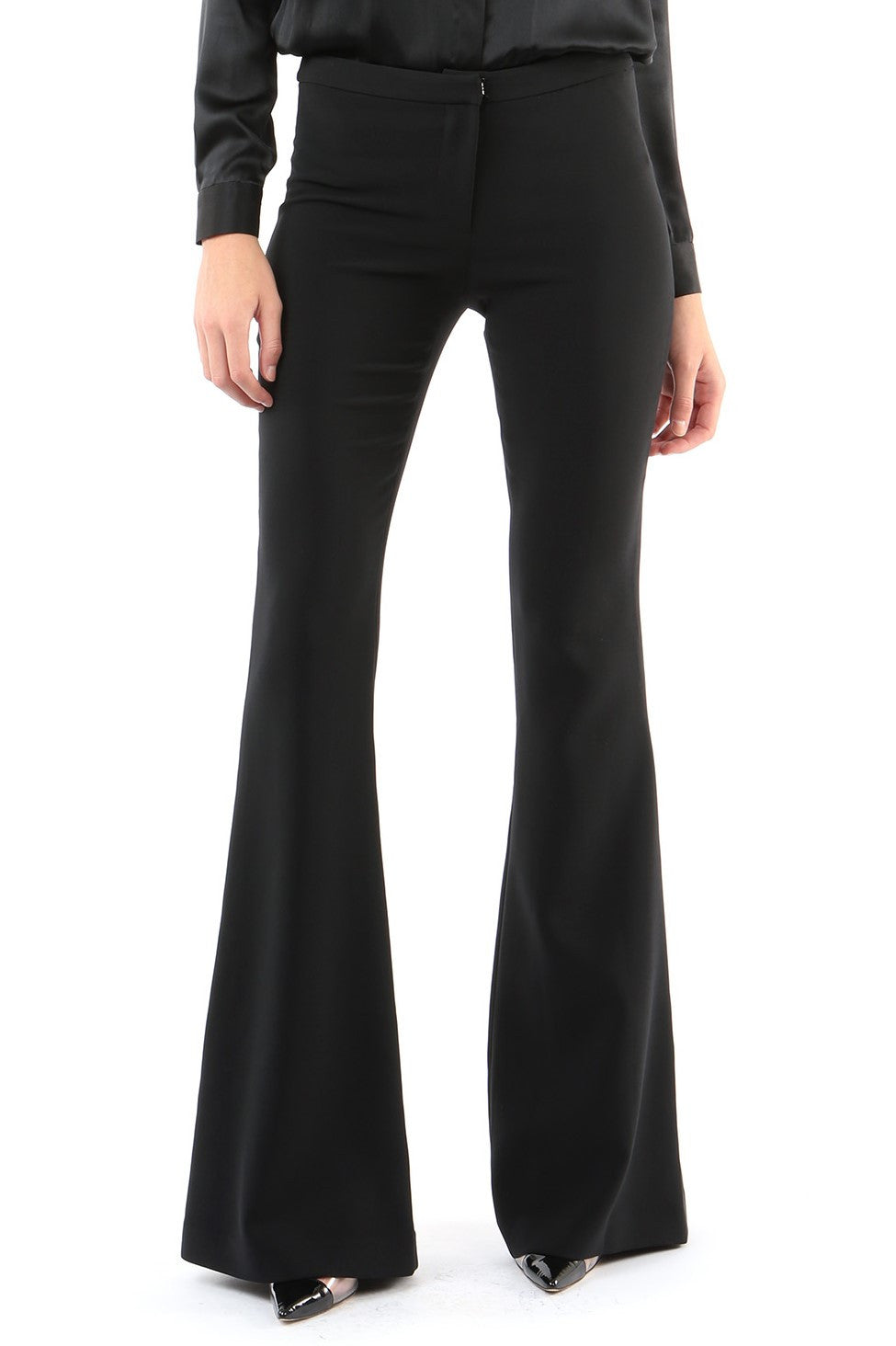 Jay Godfrey Black Flare Pants - Front View