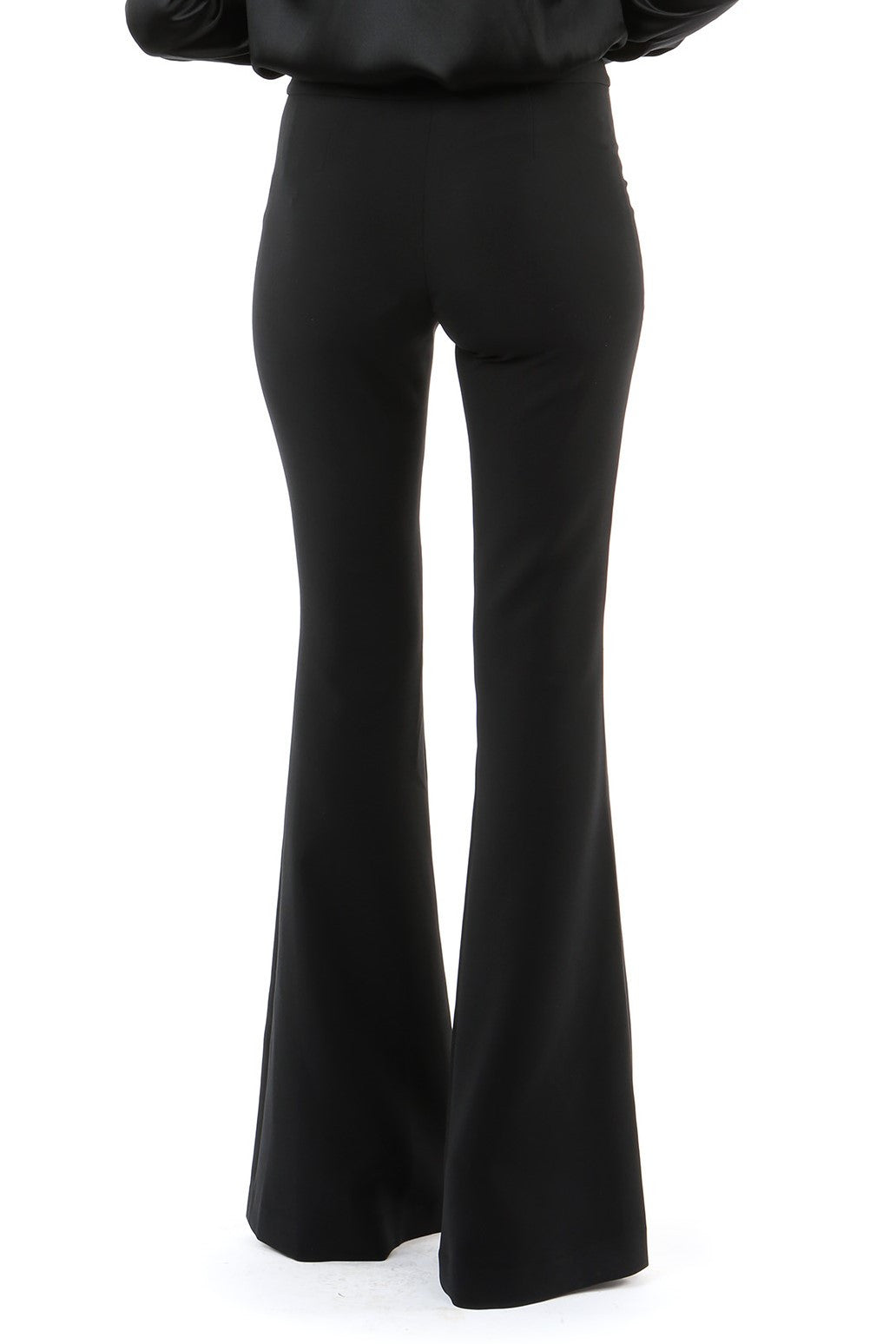 Jay Godfrey Black Flare Pants - Back View