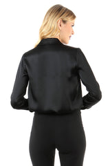 Jay Godfrey Black Silk Blouse - Back View