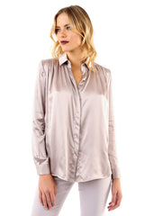 Jay Godfrey Mauve Silk Blouse - Front View