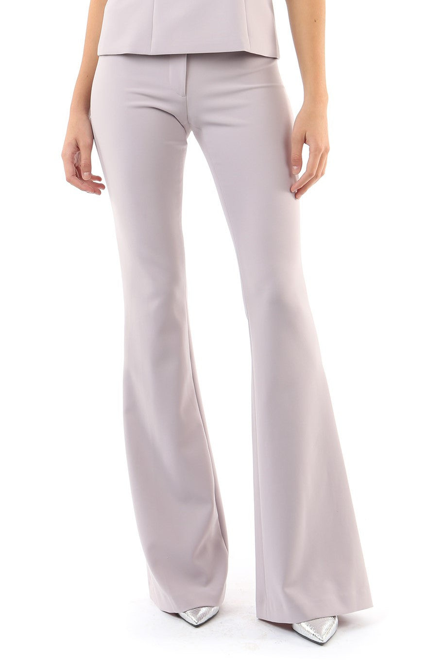 Jay Godfrey Mauve Flare Pants - Front View
