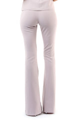 Jay Godfrey Mauve Flare Pants - Back View