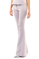 Jay Godfrey Mauve Flare Pants - Side View