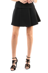 Jay Godfrey Black Pleated Mini Skirt - Front View