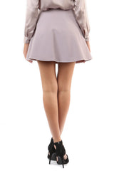 Jay Godfrey Mauve Pleated Mini Skirt - Back View