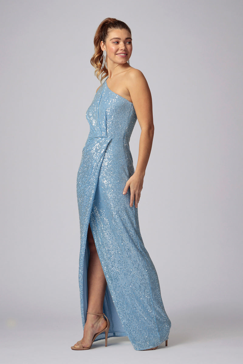 AURORA ONE SHOULDER SEQUIN GOWN