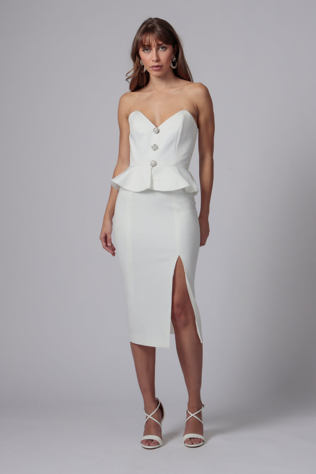 CAMPO STRAPLESS MIDI DRESS