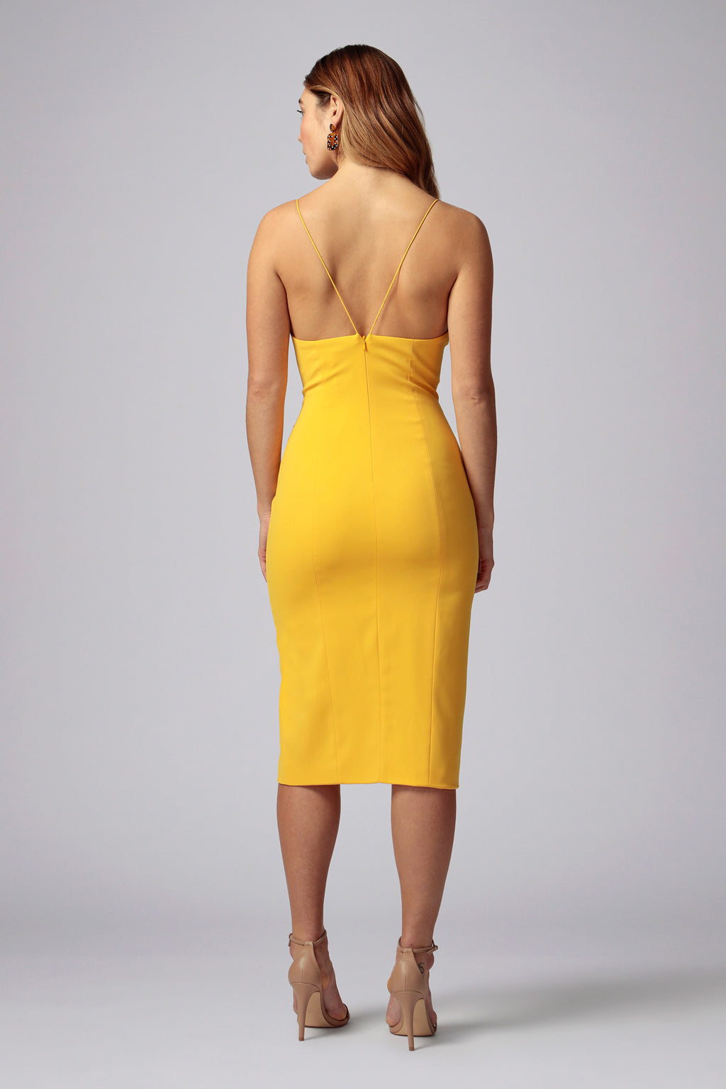 CARLO STRAPPY MIDI DRESS