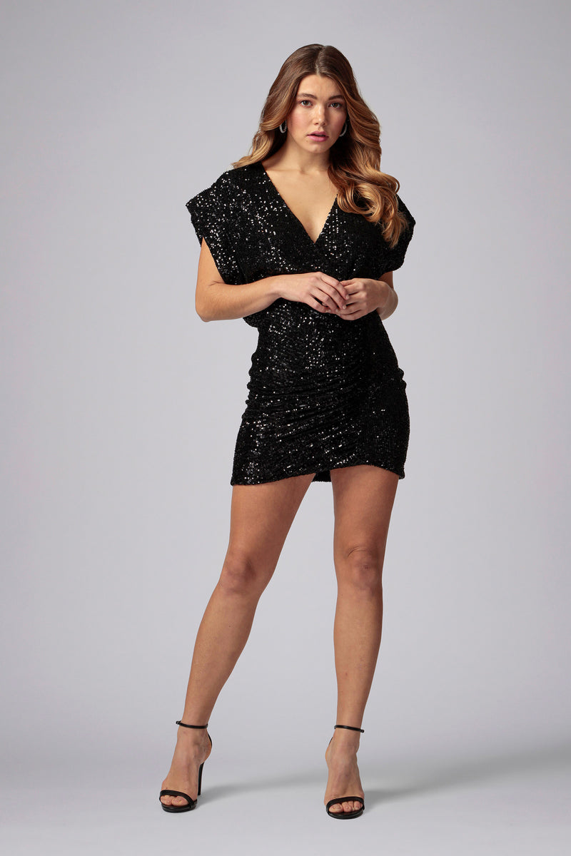 EVIE SEQUIN MINI DRESS