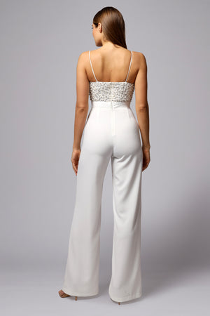 FINLEY HAND BEADED JUMPSUIT