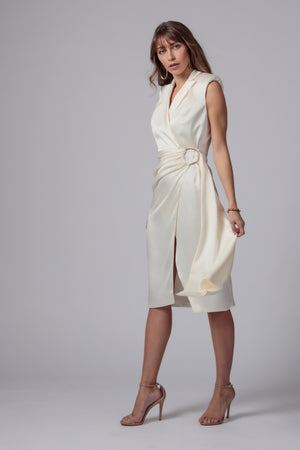 GINO BELTED MIDI DRESS