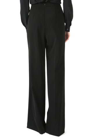 BUSCH BLACK LACE-UP WIDE LEG PANT