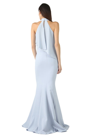 FRANKLIN ICE BLUE HIGH-NECK GOWN