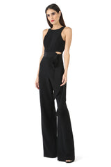 Jay Godfrey Black Tie Jumpsuit - Front View
