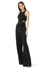 Jay Godfrey Black Tie Jumpsuit - Side View