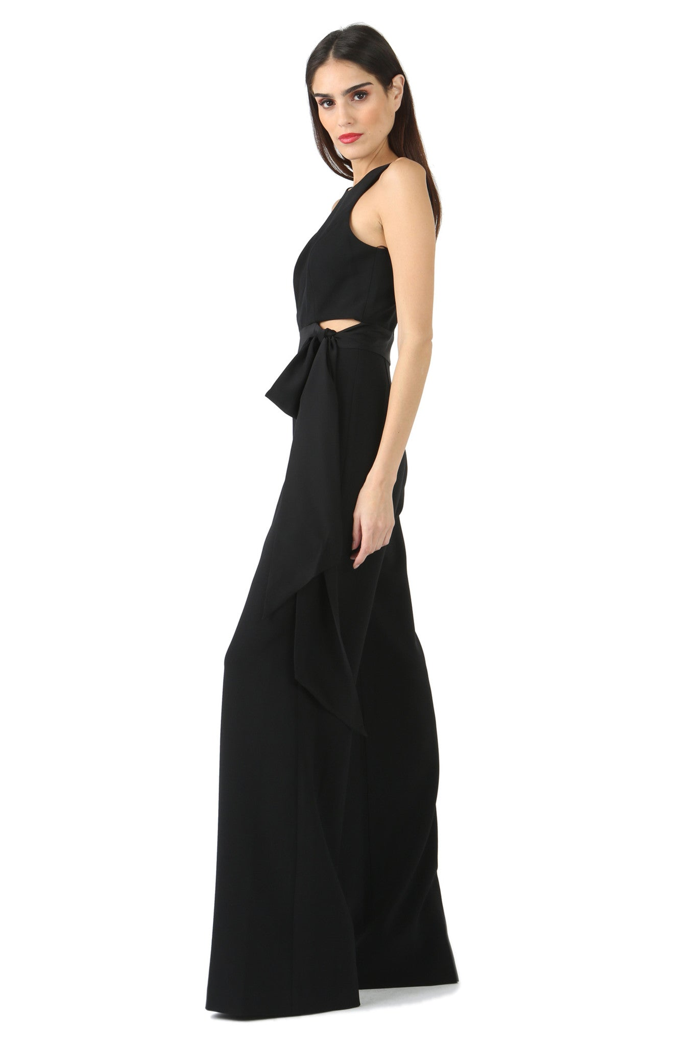 Jay Godfrey Black Tie Jumpsuit - Side 2 View