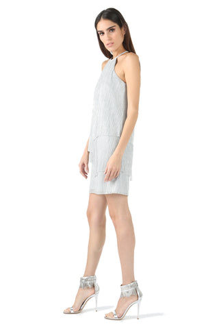 LUCIA METALLIC LAYERED SHIFT DRESS