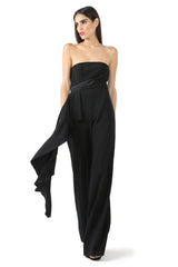 Jay Godfrey Black Strapless Romper - Side View