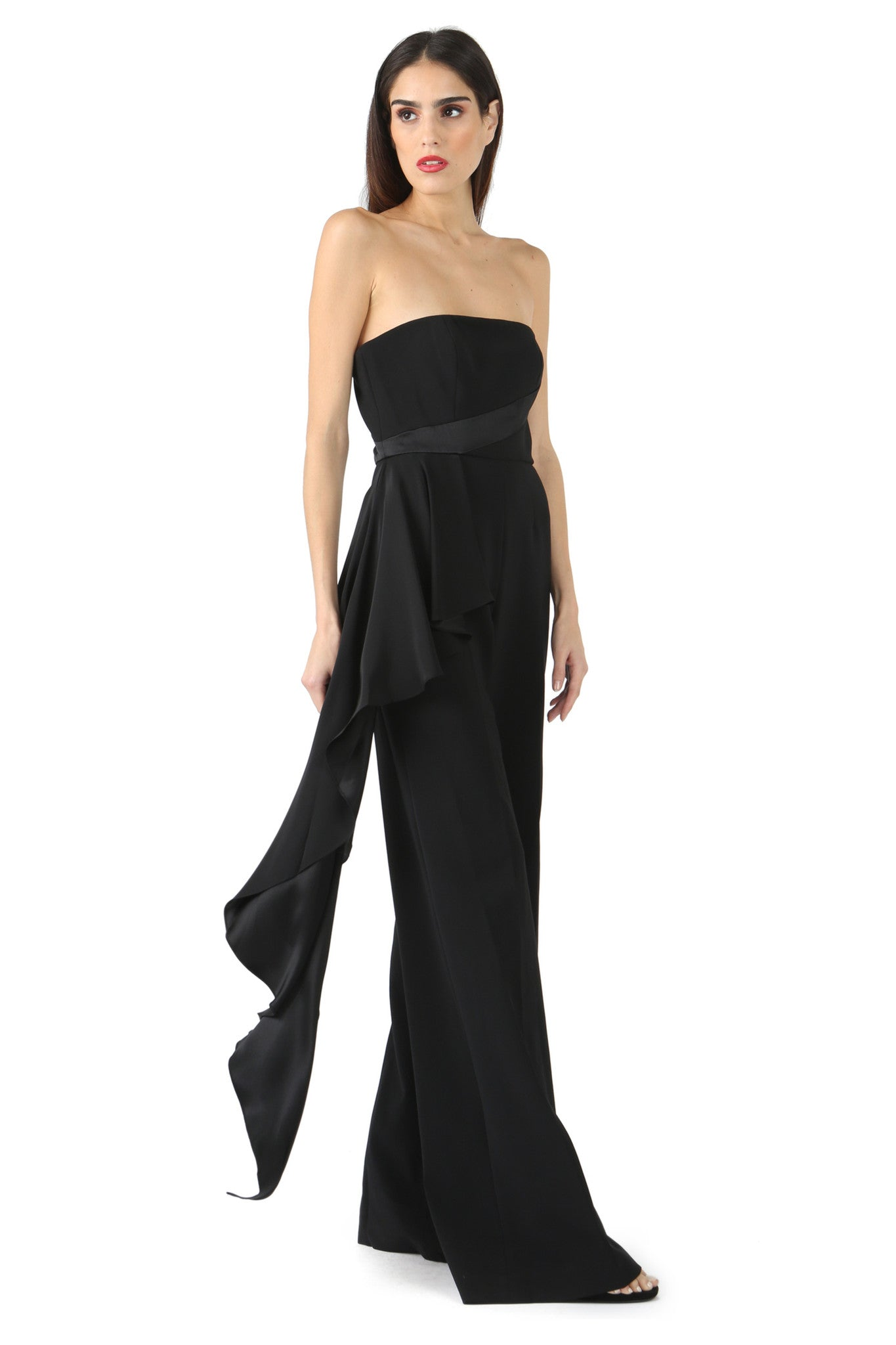 Jay Godfrey Black Strapless Romper - Side 2  View