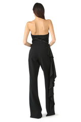 Jay Godfrey Black Strapless Romper - Back View