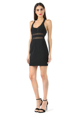 Jay Godfrey Black Scoop Neck Mini Dress - Side View
